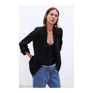 Zara   Lapel collar blazer